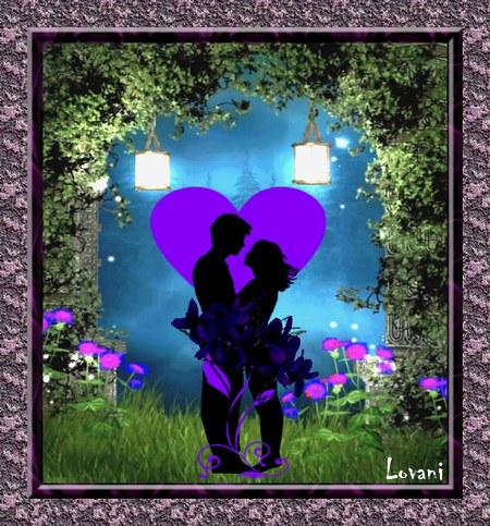 PPS.Pour la Saint-Valentin. L'amour est un bouquet de violettes. Lovani dans PPS violeytte